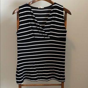 Striped Black & White Top